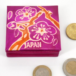 Japanese style leather wallet, SAKURA, pink