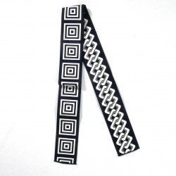 Black or blue Japanese obi belt, BANTENOBI, Square and Chain
