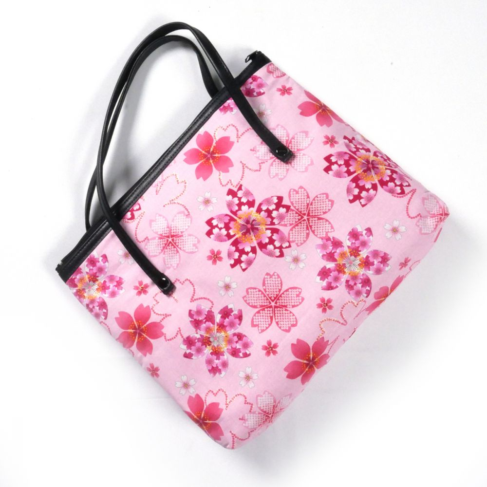Japanese cotton bag, 1881 F, pink
