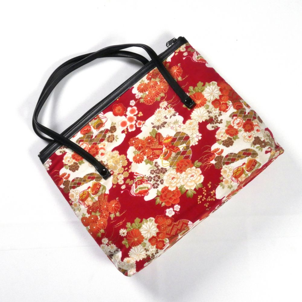 Japanese cotton bag, 1881 F, red