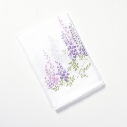 japanese white cotton handkerchief wistaria 35x35cm FUJI NO HANA
