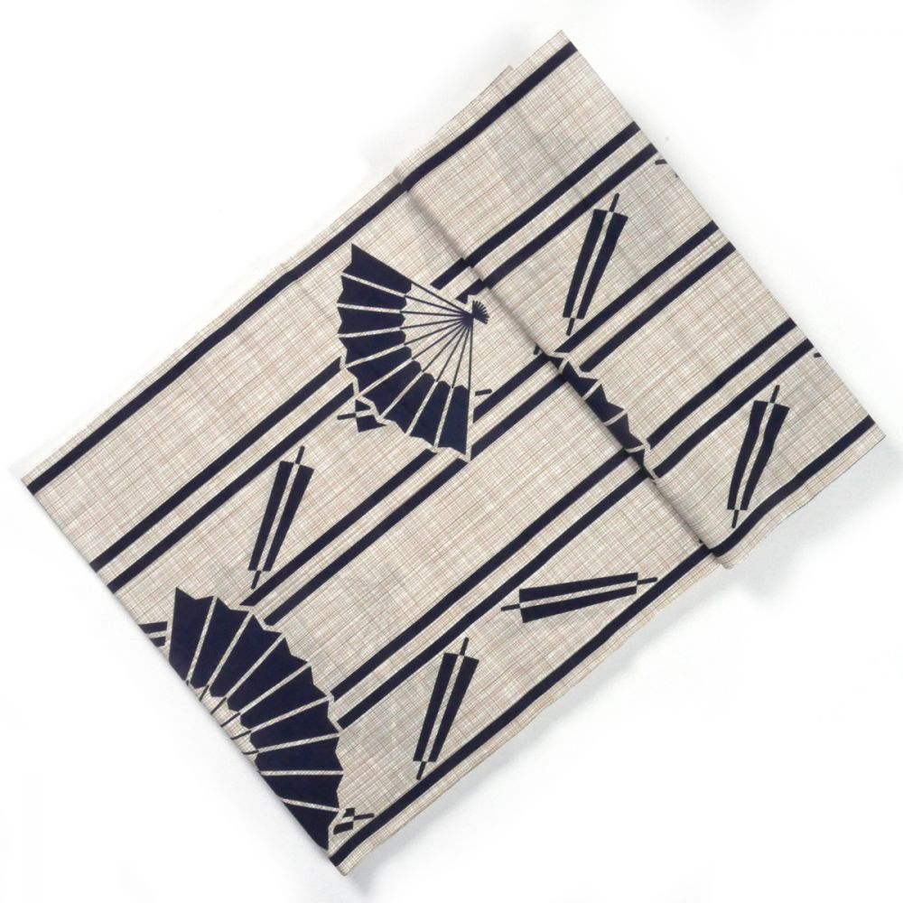 Japanese cotton fabric made in Japan for kimono 12m x 38cm