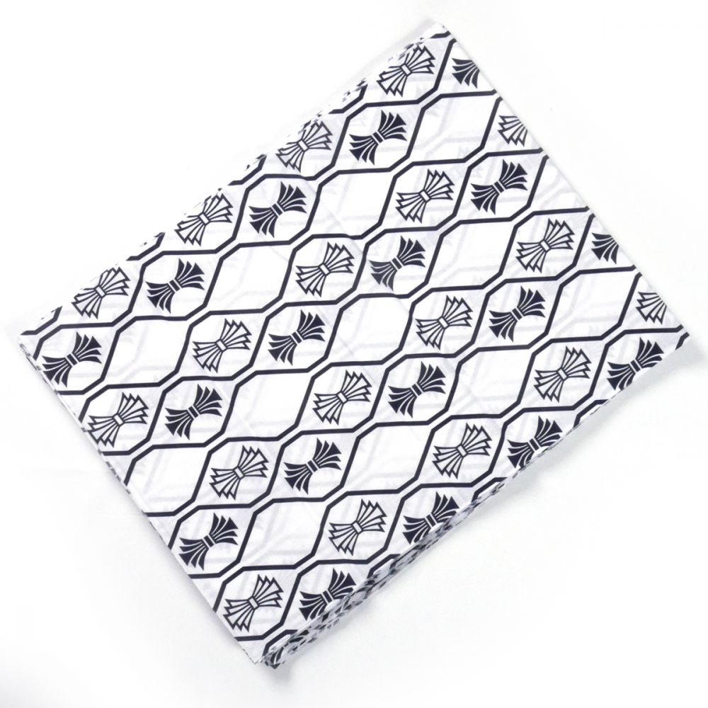 Japanese white cotton fabric made in Japan for kimono 12m x 38cm knots