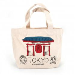 Japanese cotton tote bag, TOKYO, temple