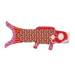 red koi carp-shaped windsock KOINOBORI AKAI