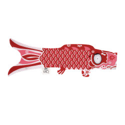 joyous red koi carp-shaped windsock KOINOBORI JOY
