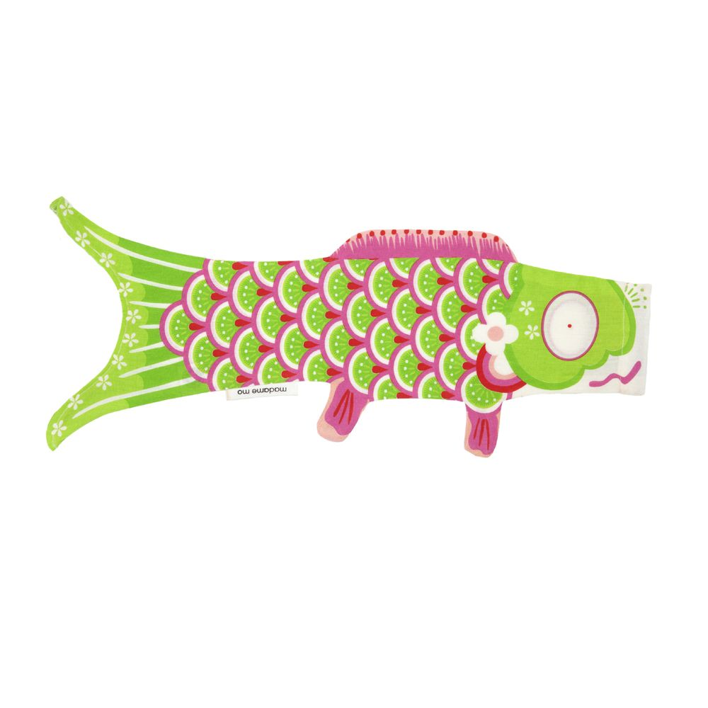 green koi carp-shaped windsock KOINOBORI MIDORI