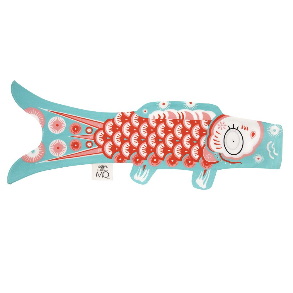 blue sky koi carp-shaped windsock KOINOBORI LIGHT