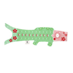 Green koi carp-shaped windsock KOINOBORI TENDER