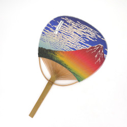 japanese non-folding fan uchiwa AKAFUJI
