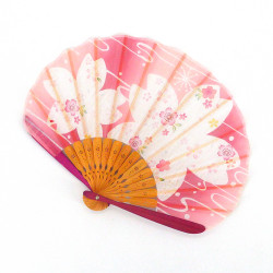 japanese blue fan 21cm for women, BIGSAKURA, cherry blossoms