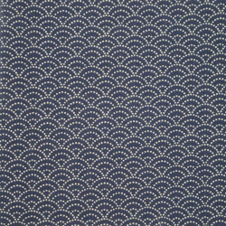 Blue Japanese cotton fabric seigaiha sashiko patterns made in Japan width 112 cm x 1m