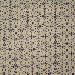 Beige Japanese cotton fabric asanoha sashiko patterns made in Japan width 112 cm x 1m