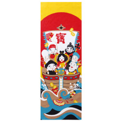 Japanese cotton towel TENUGUI, Seven Deities Of Good Luck