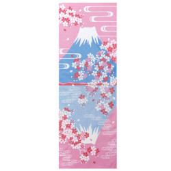 Japanese cotton towel TENUGUI, Upside down Fuji