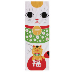 Japanese cotton towel TENUGUI, MANEKINEKO