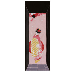 Japanese cotton towel TENUGUI, GEISHA
