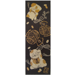 Japanese cotton towel TENUGUI, MANEKINEKO 2