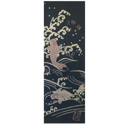 Japanese cotton towel TENUGUI, KOI