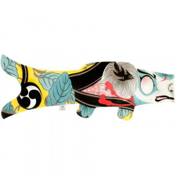 Blue koi carp-shaped windsock KABUKI SOLDAT