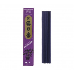 Box of 50 Japanese incense sticks, MORNING STAR MUSK, scent of musk
