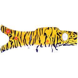 koi carp-shaped windsock, natural tiger - TORA
