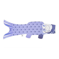 koi carp-shaped windsock, lavender - RABENDA
