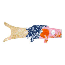 Koi carp-shaped windsock KOINOBORI KOKORO NAMI
