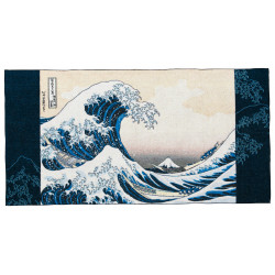 Mittleres Badetuch, BATH TOWEL THE GREAT WAVE OFF, Hokusai