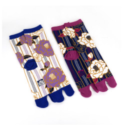Japanese tabi cotton socks, HANA