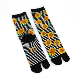 Japanese tabi cotton socks, HIMAWARI