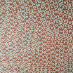 Japanese red cotton fabric with wave pattern, SEIGAIHA, made in Japan width 112 cm x 1m