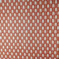 Japanese red cotton fabric with arrow motif, YAGASURI, made in Japan width 112 cm x 1m