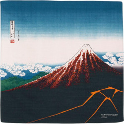 Japanese Furoshiki, UKIYO-E, Storm under the summit
