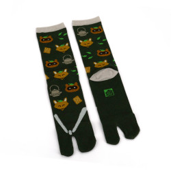 Japanese tabi cotton socks, TANUKI