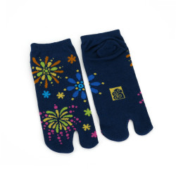 Japanese tabi cotton socks, HANABI