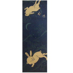 Cotton hand towel, TENUGUI, USAGI