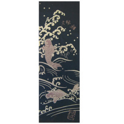 Cotton hand towel, TENUGUI, KOI