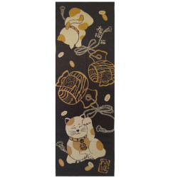 Cotton hand towel, TENUGUI, MANEKINEKO