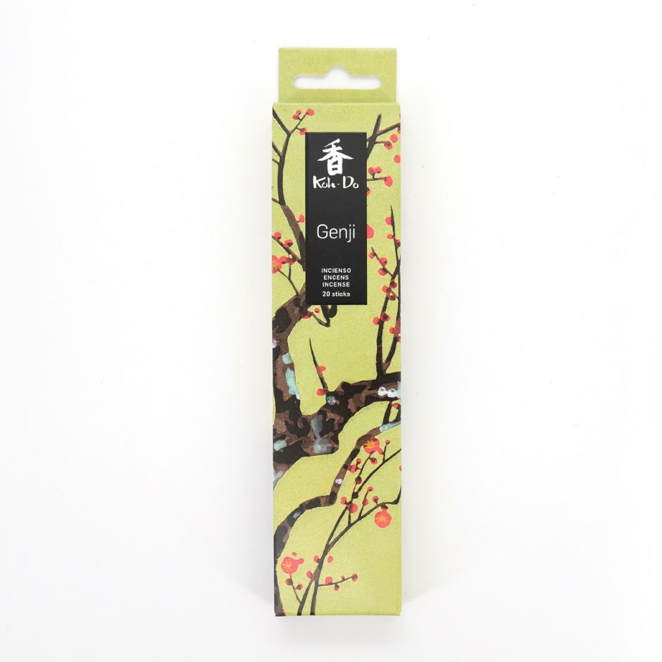 Box of 20 incense sticks, KOH DO - GENJI, Narcissus and Musk, made in Japan