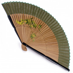 japanese fan in cotton and bamboo, KAEDE-AYU, Maples