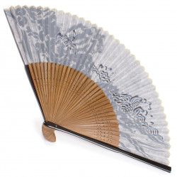 japanese fan made of silk and bamboo, NAMI, wave