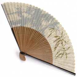japanese fan made of silk and bamboo, TAKE, bamboo