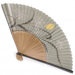 japanese fan in cotton and bamboo, TSUKI SUSUKI, Moon