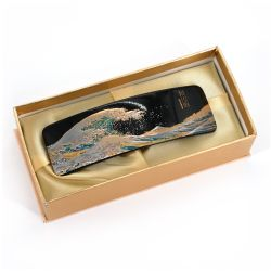 Japanese resin hair clip with the great wave pattern, NAMI, 10.5cm